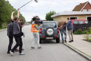På filmoptagelse med elevproduktion i FilmMaskinen
