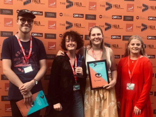 Billede af elever på Next filmfestival
