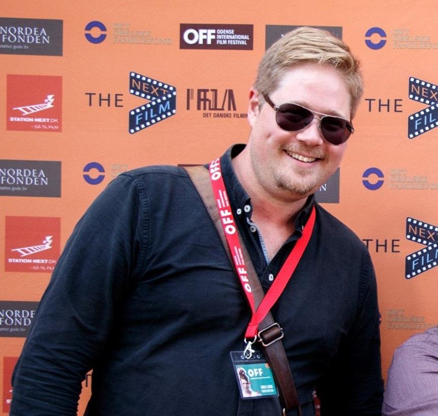 Billedet viser FilmMaskinens underviser på Next filmfestival